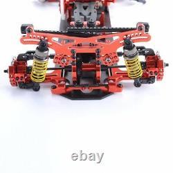 Alliage & Fibre De Carbone 1/10 Drift Racing Cadre Voiture 4 Roues Motrices Body Kit G4 Rouge