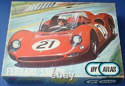 Atlas 124 Scale Mib Slot Car Racing Red Ferrari 330p2 Sealed Kit Body & Châssis