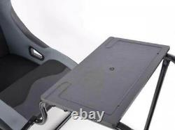 Car Gaming Racing Sim Frame Chair Bucket Seat Black Grey Fits Fanatec Logitech