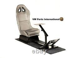 Car Gaming Racing Simulator Frame Chair Bucket Seat Frame Carbon Look Argent