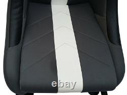 Car Gaming Racing Simulator Frame Chair Bucket Seat Pc Ps3 Ps4 Xbox Gris/blanc