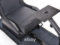 Car Gaming Suzuka Racing Sim Cadre Chaise Bucket Seat Noir / Argent Forza Xbox Ps4