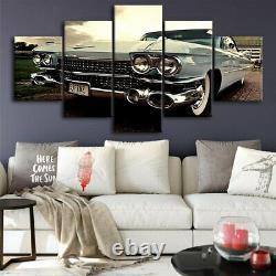 Car Sports Luxury Classic Vintage F1 Racing 5 Piece Panel Canvas Wall Art Print