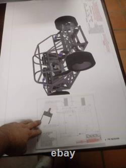 Corvette C6 Gt Voiture De Course Du Châssis Plans Blueprints