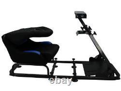 Course De Voitures Racing Sim Cadre Chair De Cadre Seau Pc Ps4 Xbox Ps3 Noir / Bleu