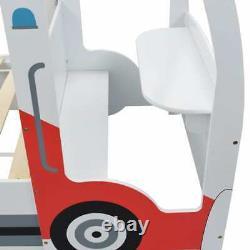 Enfants Bed Frame Police Car Single Boys Children Slatted Bedroom Furniture Racing