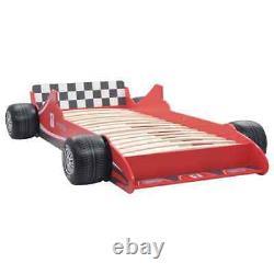 Enfants Enfants Racing Car Bed Frame Single Toddler Junior Red Car Bed 90x 200 CM