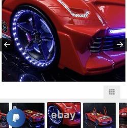 Enfants Race Car Bed 90x200 CM Kids Toddler Bed Frame Prix D'origine 599 £