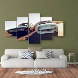 Fast Furious Sports Car Racing 5 Pièces Toile Wall Art Affiche D'impression Décoration Maison