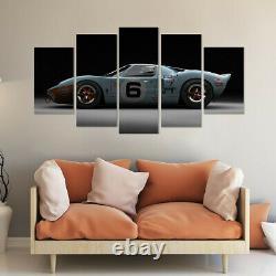 Ford Gt40 Racing Voiture 5 Panneau D'impression De Toile Affiche D'art Mural Décoration Maison