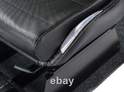 Gaming Car Racing Simulator Cadre Chaise Bucket Cadre Du Siège Noir / Argent Ps4 Xbox