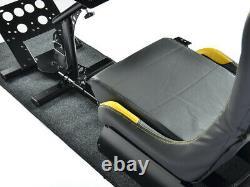 Gaming Car Racing Simulator Cadre Chaise Bucket Cadre Du Siège Noir Jaune Ps5 Xbox