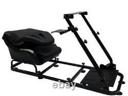 Gaming Car Racing Simulator Cadre Président Bucket Seat Cadeau Pour Xbox Ps5 Noir Gris