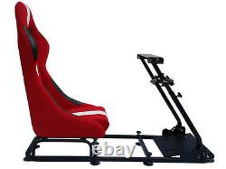 Gaming Car Racing Simulator Cadre Président Bucket Seat Pc Ps3 Ps4 Xbox Rouge / Blanc