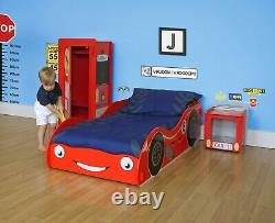Garçon Fille Rouge Voiture De Course Toddler Junior Bed Cotbed 70 140