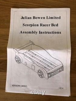 Garçons Single Bed Racing Car Cadre De Lit Seulement Immaculé Collection J26 M62 Bd19
