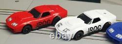 Ho Slot Car Iroc Racing Set Viper Chassis Avec Bob Beers Ap Corvette Bodies