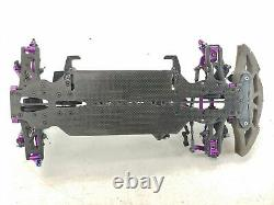 Hpi Racing Aluminium 1/10 4wd Carbon Fiber Touring Car Roller Slider Chassis Used