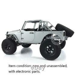 Jkmax 1/8 Kit-e Metal Chassis Crawler Car Capo Modèle Esc Motor Servo Rc Racing