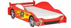 Legaré Furniture Children's Race Car Cadre De Lit Standard Pour Enfants Rouge Et Whit