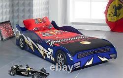 No 21 3ft Blue Children Kids Boys Car Racing Racer Bed Frame Livraison Gratuite