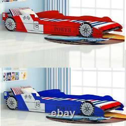 Race Car Lit Cadre Lit Lit Lit Cadre Pour Enfants Enfants Enfants Garçons 90x200 CM