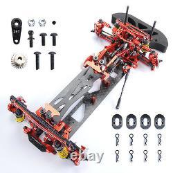 Rc 110 Drift Racing Car G4 Châssis Cadre 4wd Kit De Démontage En Métal Et Carbone