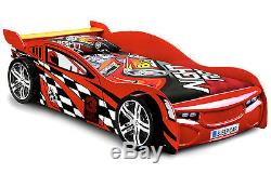 Red Racing Sports Car Lit Simple Cadre 3ft Racer Lit