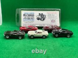 Road Race Replicas'69 Boss 429 Mustang 5 Ensemble De Voiture Avec Châssis, Nouveau Rrr Inutilisé