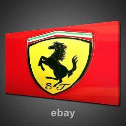 Rouge Ferrari Logo Racing Voiture Toile Imprimer Wall Art Photo Photo