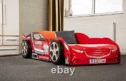 Sweet Dreams Finn Boost Voiture F1 Racing Bed Frame 90cm Red Gloss 3ft Lit Simple