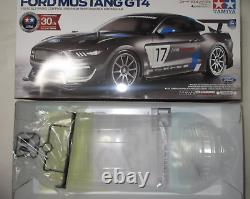 Tamiya 1/10 Rc Ford Mustang Gt4 Race Car Kit, Avec Tt-02 Chassis Tam58664 Japon
