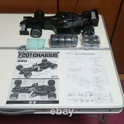 Tamiya 1/10 Rc Formule 1 Racing Car F201 Châssis 4x4 Utilisé Avec Corps De Rechange