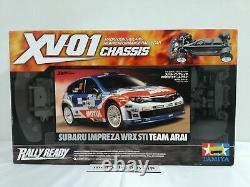 Tamiya 1/10 Rc Subaru Impreza Wrx Sti Team Arai Xv-01 Chassis Model Kit 58528