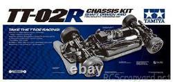 Tamiya 47326 Tt-02r Race Spec Châssis Kit 1/10e Échelle Rc Voiture Ozrc Cf