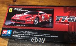 Tamiya Chassis 4wd Racing Car Ferrari 458 Challenge Tt02 1/10 Kit Avec Boîte