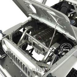 Uk Stock Capo 1/8 Rc Car Rock Jkmax Racing Crawler Kit Châssis Métallique Non Assemblé