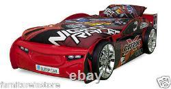 Vente Nouveaux Enfants Lit Pour Garçon Car Racing Red Brand New 3ft Lit Simple Cadre