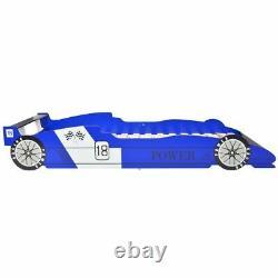 Vidaxl Children's Race Car Bed 90x200 CM Kids Toddler Cot Bed Frame Rouge/bleu