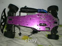 Vintage 1/10 Hpi Racing Nitro Rs4 2 T-15 Rs4 3 Rolling Chassis R/c Voiture 3.0 18
