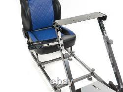 Voiture Gaming Racing Cadre Chaise Bucket Siège Faux Cuir Noir Bleu Pour Ps5 Xbox