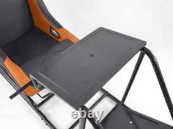 Voiture Gaming Racing Sim Frame Chaise Bucket Siège Noir Orange Fits Logitech Fanatec