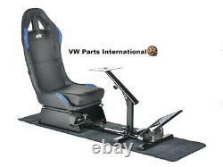 Voiture Gaming Racing Simulator Frame Chaise Bucket Seat Frame Black Blue Ps5 Xbox