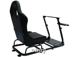 Voiture Gaming Racing Simulator Frame Chaise Bucket Seat Frame Pc Ps3 Ps4 X-box Noir