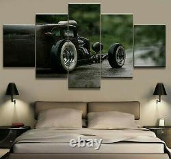 Voiture Sports De Luxe Classic Vintage F1 Racing 5 Pièces Panneau Toile Wall Art Imprimé