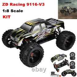 Zd Racing 9116-v3 1/8 Électrique Rc Truck 4wd Frame Diy Kit Remote Control Car